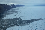 North-eastern wall of Petermann Fjord in Aug.-2009. [Photo credit: David Riedel, CCGS Henry Larsen]