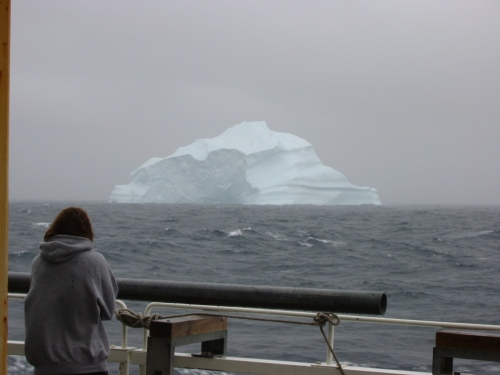 Iceberg in the fog off Upernarvik, Greenland in July of 2003. [Photo Credit: Andreas Muenchow]