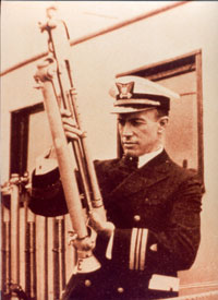 "Edward H. ""Iceberg"" Smith of the US Coast Guard with reversing thermometer."