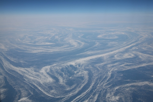 Ice fields seen in Labrador Current April 6, 2008 from a plane. [Photo Credit: Daniel Schwen]