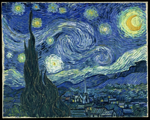 "Vincent Van Gogh's ""Starry Sky"" painted in June 1889."