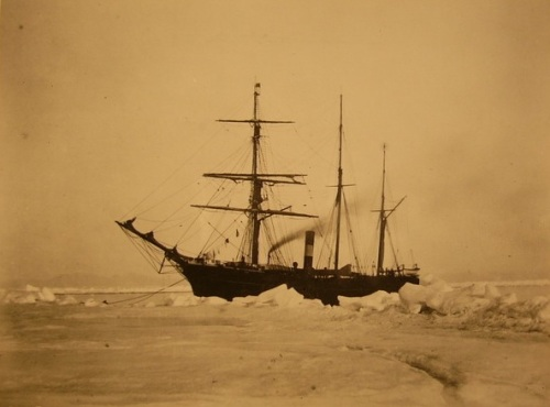 Seal Steamer (SS) Proteus that delivered men and supplies to set up Fort Conger (From US Archives)