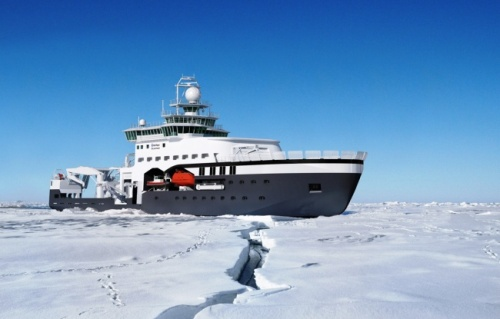 Artist's rendering of Norway's new ice-going research vessel. (Photo: Rolls Royce Marine)