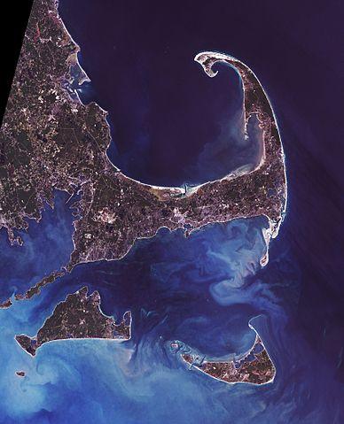 Cape Cod, Martha's Vineyard, and Nantucket island off Massachussetts.