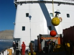 Acoustic Doppler current profiler mooring from Nares Strait in 2012 that will be deployed in June 2014 off north-east Greenland.