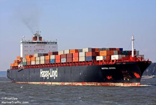 Hapag Loyd's Montreal Express sailing between Montreal, Canada and Hamburg, Germany [Photo Credit: MarineTraffic.com