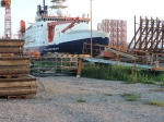 FS Poalrstern in dry dock June-2, 2014.