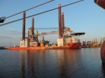Vessel to deploy offshore wind power systems in port of Bremerhaven.