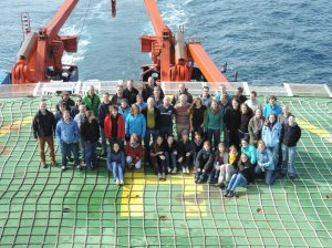 Science party aboard R/V Polarstern after 4 weeks at sea in July 2014.