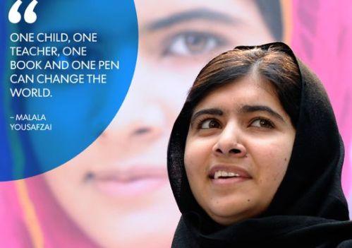 Malala Yousafzai, Nobel Peace Prize winner 2014.