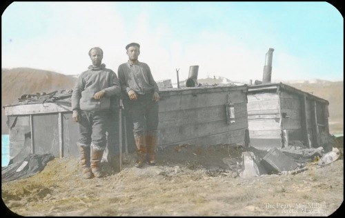 Donald MacMillan and Jack Barnes at Fort Conger, spring 1909 [From LeMoine, 2013]