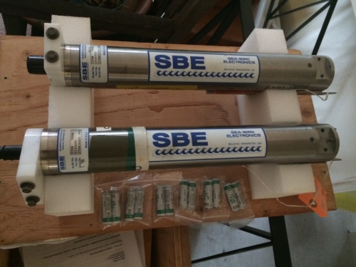 Two SBE37sm with one set of 12 lithium batteries.