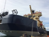 I/B Oden in Landskrona on June-1, 2015. This is the front (bow) of the ship.