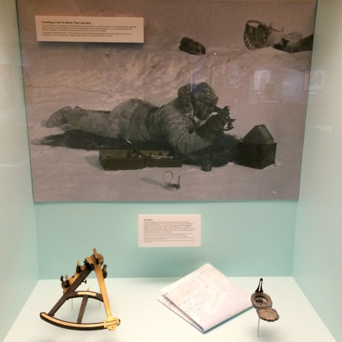 Navigation during early Arctic exploration. Photo taken during a visit of the Peary MacMillan Arctic Museeum at Bowdoin University in Brunswick, Maine.