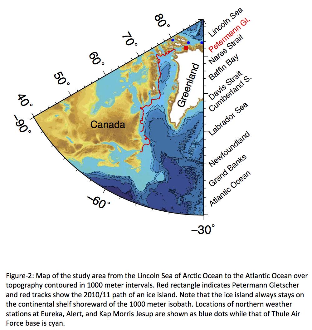Map Of Canada Davis Strait.Nares Strait Icy Seas