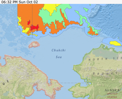 Ice Chart of the Alaska office of the National Weather Service (link)