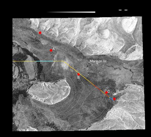 Wolstenholme Fjord, Greenland Feb.-5, 2017 from Sentinel-1 radar. The data are at 20-m resolution