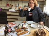 Dragonfly during our first German meal in our new apartment in Bremerhaven in July 2018.