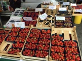 Berries at the farmer's market during our first weekend in Bremerhaven on July-7, 2018.