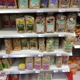 Muesli offerings in a supermarket in Bremerhaven.